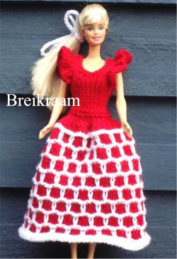 Breipatroon Barbie   baljurk