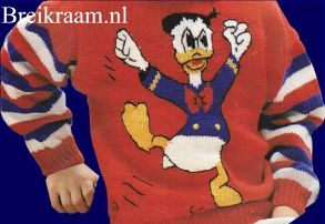 breipatroon kindertrui met donald